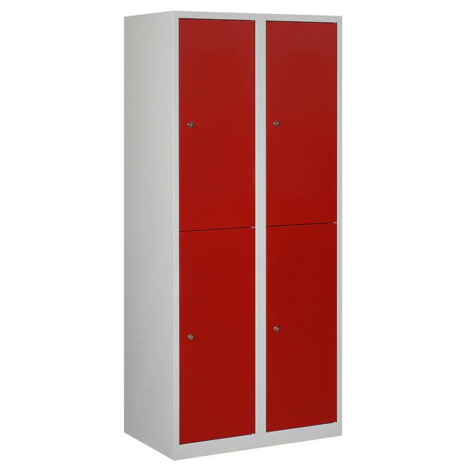 Locker 4-deurs APHT.2.4.GR/RO Kolom 40 cm Breed