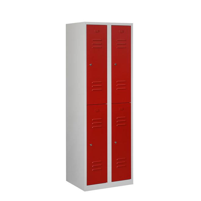 Locker 4-deurs ARH.2.4.GR/RO Kolom 30 cm Breed