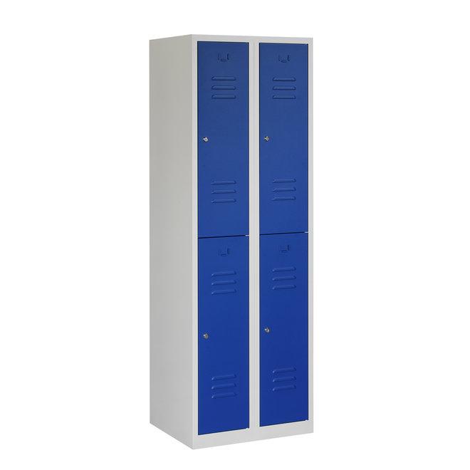 Locker 4-deurs ARH.2.4.GR/BL Kolom 30 cm Breed