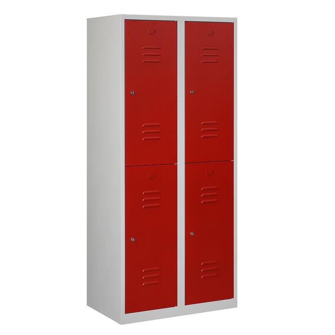 Locker 4-deurs ARHT.2.4.GR/RO Kolom 40 cm Breed