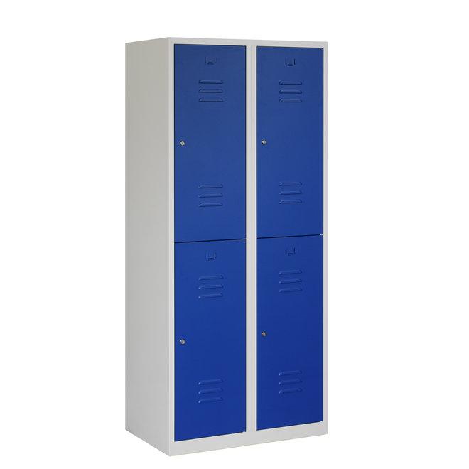 Locker 4-deurs ARHT.2.4.GR/BL Kolom 40 cm Breed