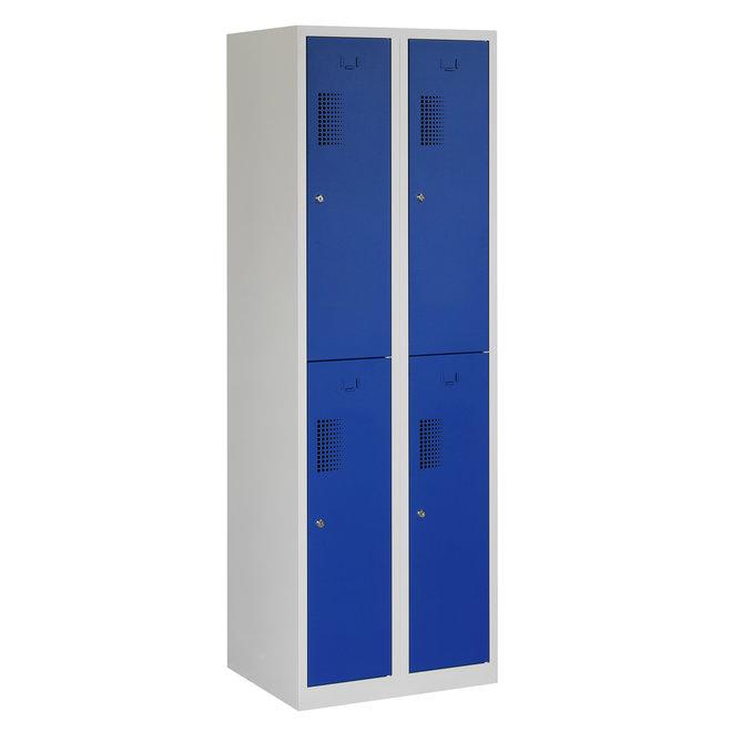 Locker 4-deurs ANH.2.4.GR/BL Kolom 30 cm Breed