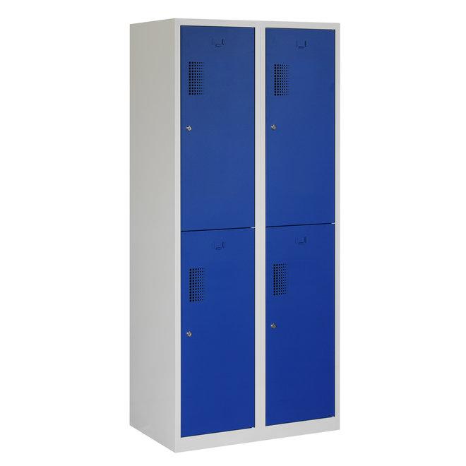Locker 4-deurs ANHT.2.4.GR/BL Kolom 40 cm Breed