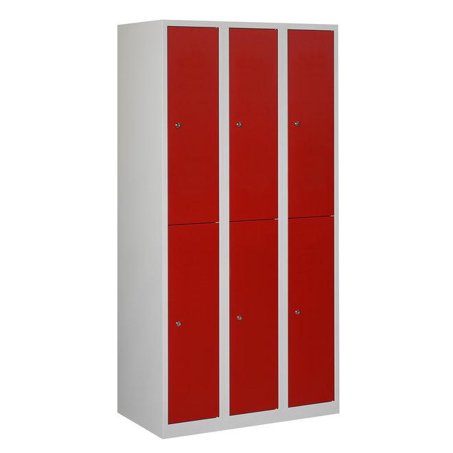 Locker 6-deurs APH.3.6.GR/RO Kolom 30 cm Breed