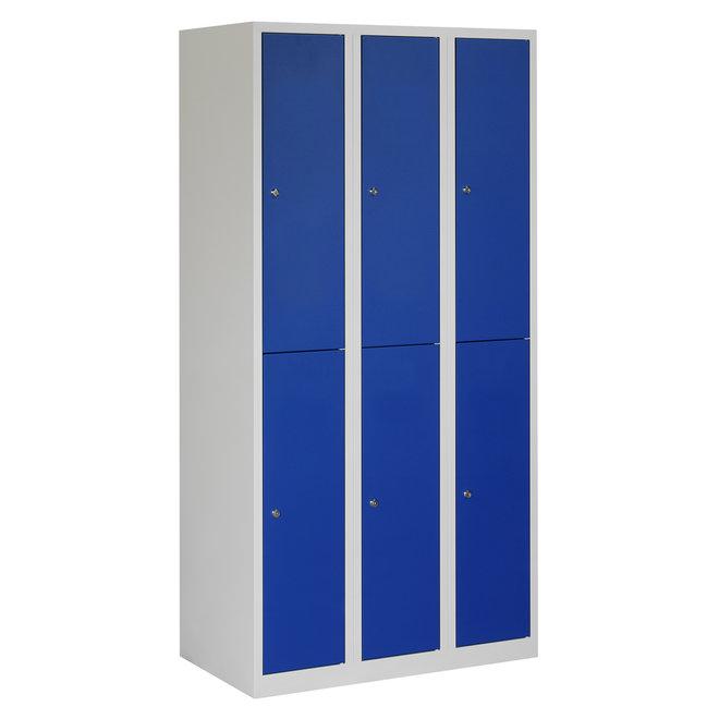 Locker 6-deurs APH.3.6.GR/BL Kolom 30 cm Breed