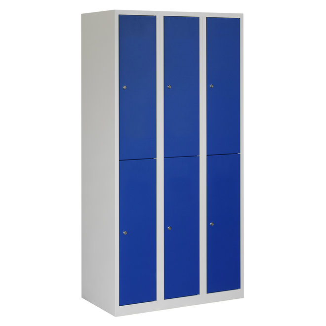 Locker 6-deurs APH.3.6.GR/BL K30