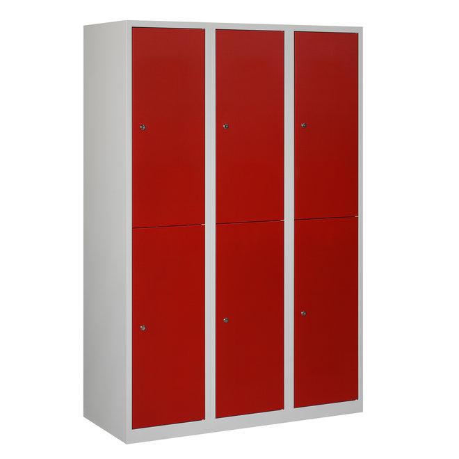 Locker 6-deurs APHT.3.6.GR/RO Kolom 40 cm Breed