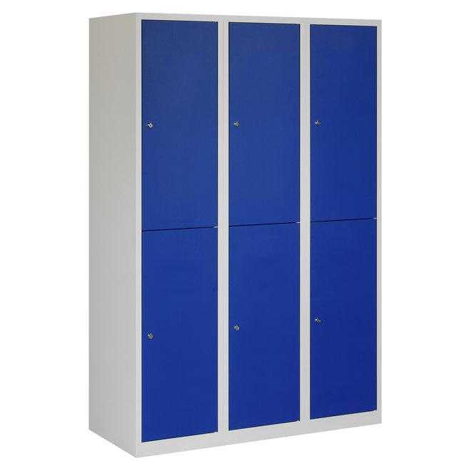 Locker 6-deurs APHT.3.6.GR/BL Kolom 40 cm Breed