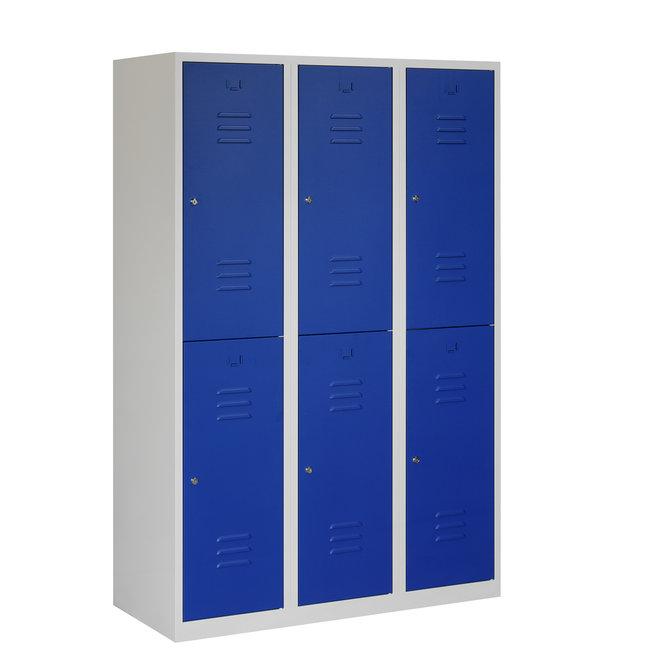 Locker 6-deurs ARHT.3.6.GR/BL Kolom 40 cm Breed