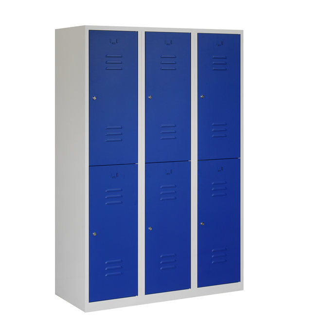 Locker 6-deurs ARHT.3.6.GR/BL K40