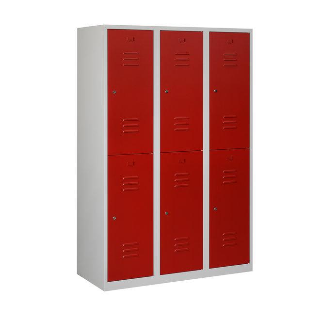 Locker 6-deurs ARHT.3.6.GR/RO Kolom 40 cm Breed