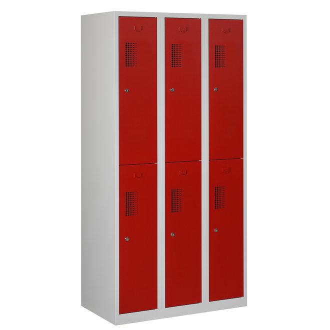 Locker 6-deurs ANH.3.6.GR/RO Kolom 30 cm Breed