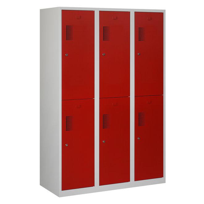 Locker 6-deurs ANHT.3.6.GR/RO Kolom 40 cm Breed
