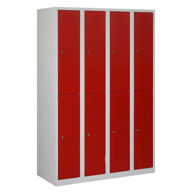 Locker 8-deurs APH.4.8.GR/RO Kolom 30 cm Breed
