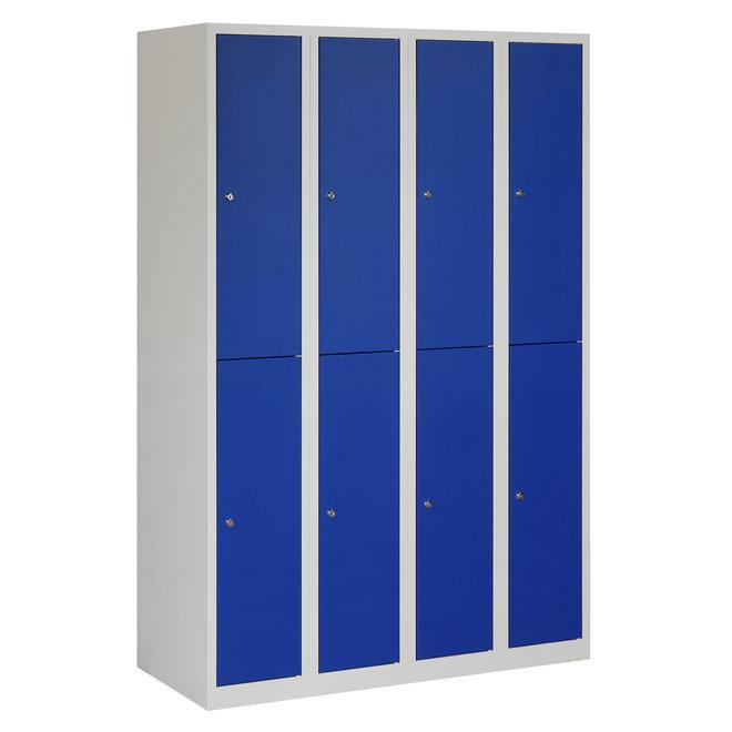 Locker 8-deurs APH.4.8.GR/BL Kolom 30 cm Breed