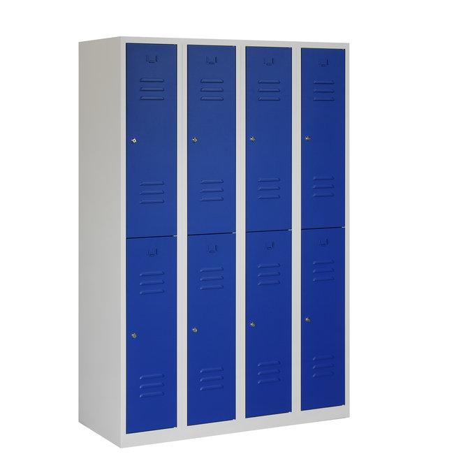 Locker 8-deurs ARH.4.8.GR/BL Kolom 30 cm Breed