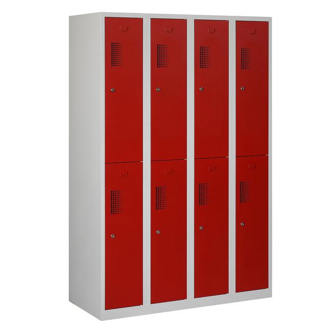 Locker 8-deurs ANH.4.8.GR/RO Kolom 30 cm Breed