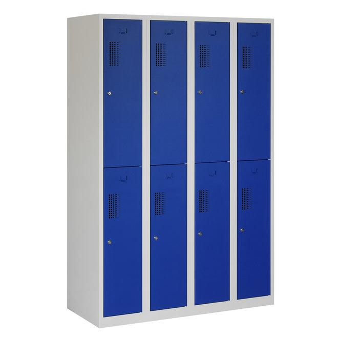 Locker 8-deurs ANH.4.8.GR/BL Kolom 30 cm Breed