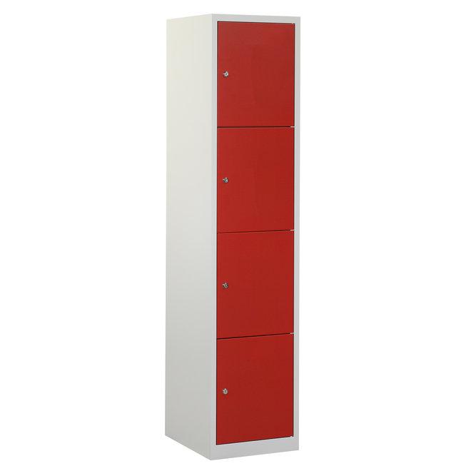 Locker 4-deurs APHT.1.4.GR/RO Kolom 40 cm Breed