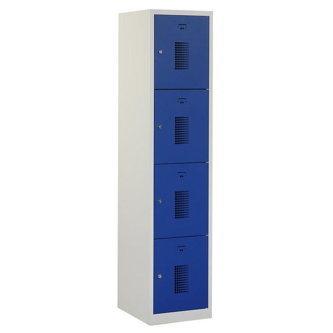 Locker 4-deurs ANHT.1.4.GR/BL Kolom 40 cm Breed