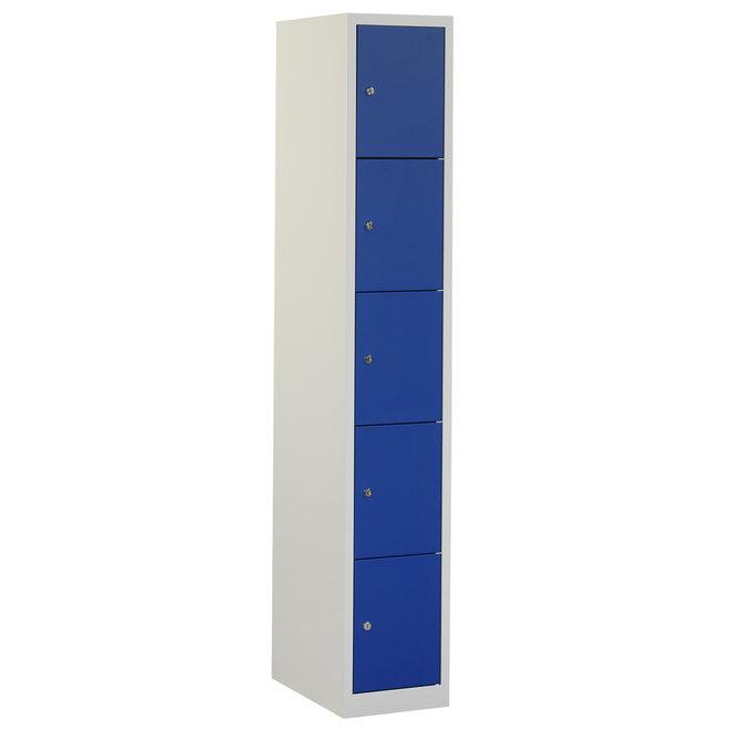 Locker 5-deurs APH.1.5.GR/BL Kolom 30 cm Breed