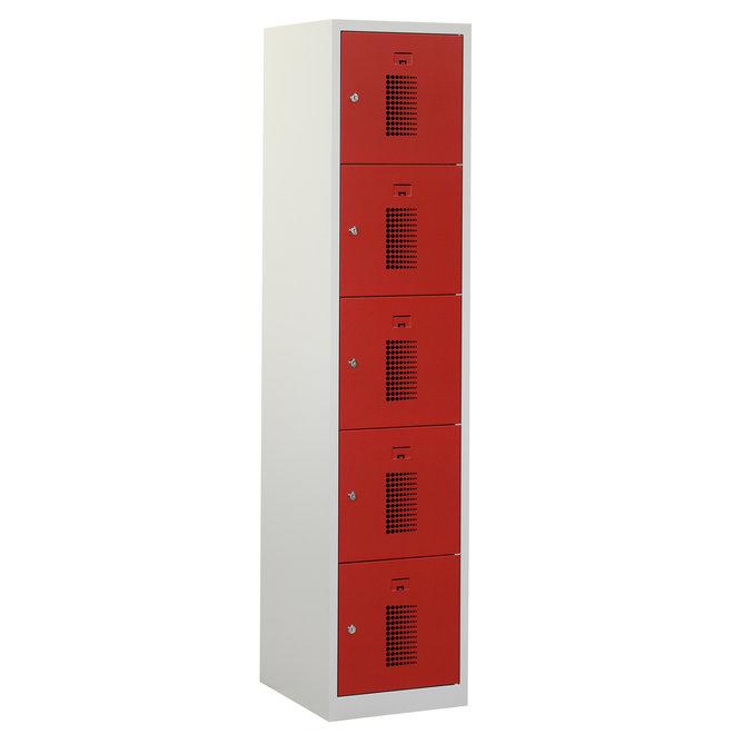 Locker 5-deurs ANHT.1.5.GR/RO Kolom 40 cm Breed
