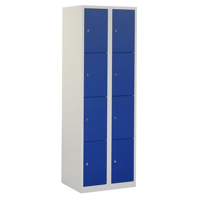 Locker 8-deurs APH.2.8.GR/BL Kolom 30 cm Breed