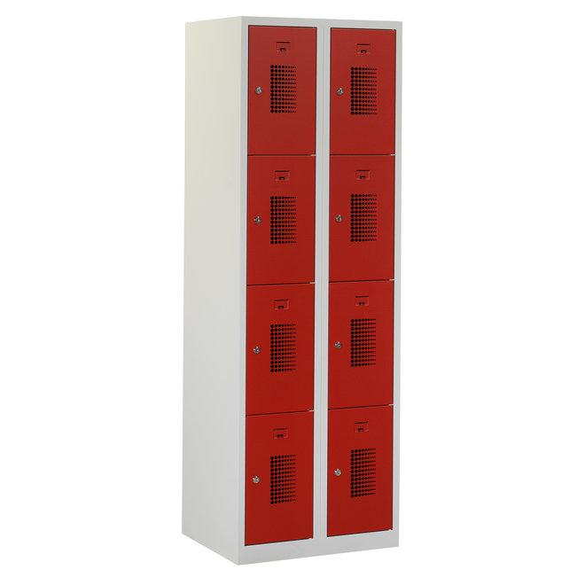 Locker 8-deurs ANH.2.8.GR/RO Kolom 30 cm Breed