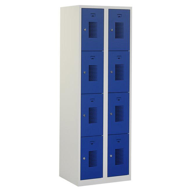 Locker 8-deurs ANH.2.8.GR/BL Kolom 30 cm Breed
