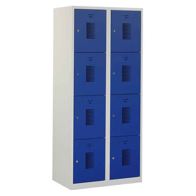 Locker 8-deurs ANHT.2.8.GR/BL K40