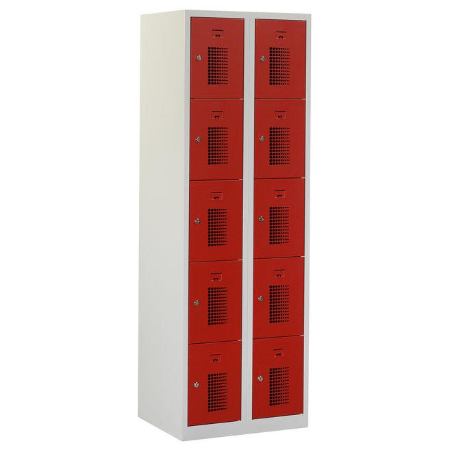 Locker 10-deurs ANH.2.10.GR/RO Kolom 30 cm Breed