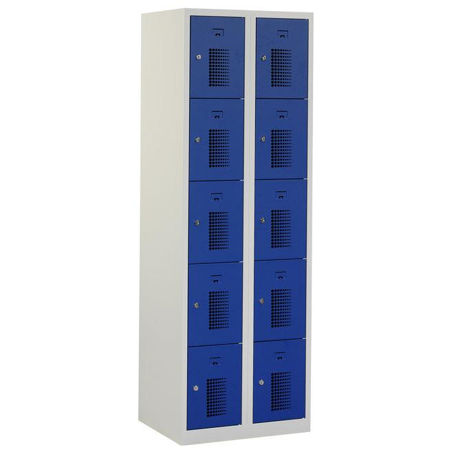 Locker 10-deurs ANH.2.10.GR/BL Kolom 30 cm Breed
