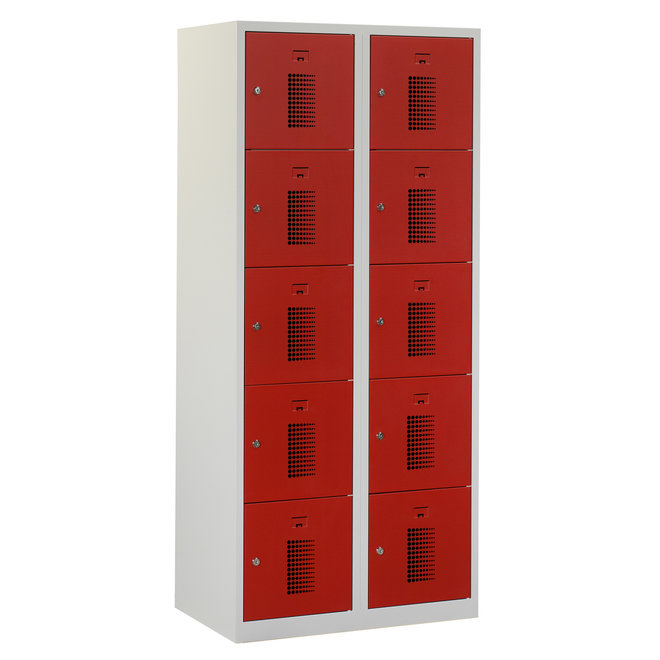 Locker 10-deurs ANHT.2.10.GR/RO Kolom 40 cm Breed