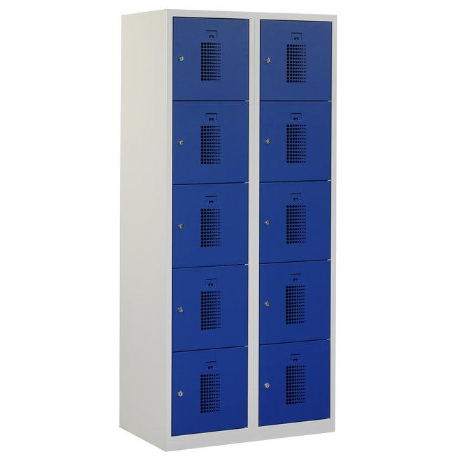 Locker 10-deurs ANHT.2.10.GR/BL Kolom 40 cm Breed