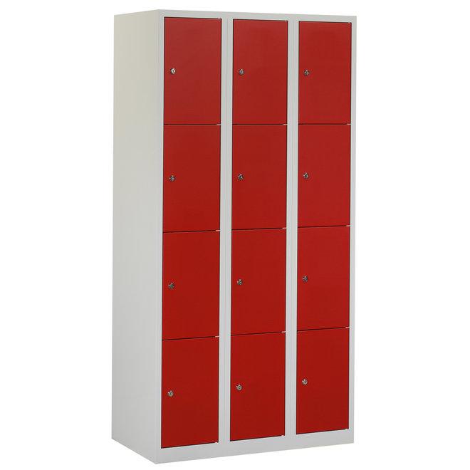 Locker 12-deurs APH.3.12.GR/RO Kolom 30 cm Breed