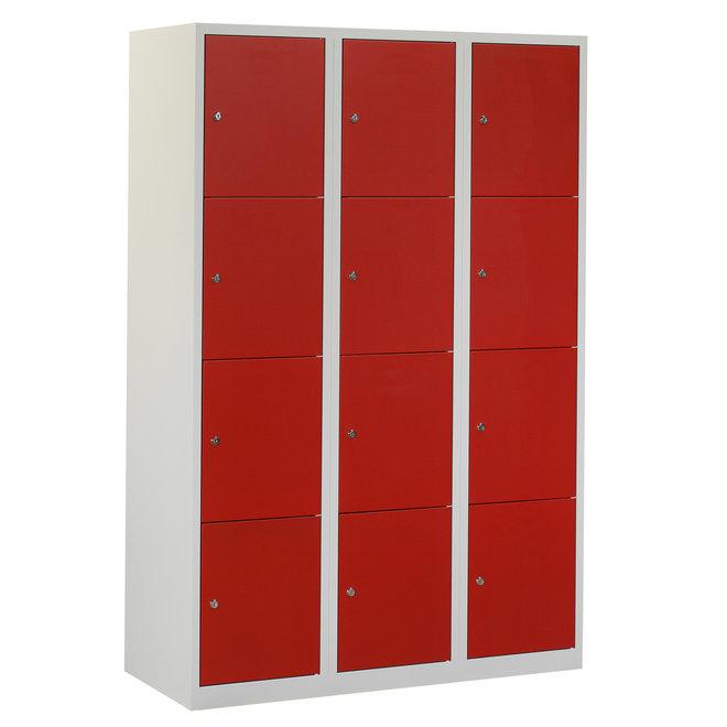 Locker 12-deurs APHT.3.12.GR/RO Kolom 40 cm Breed