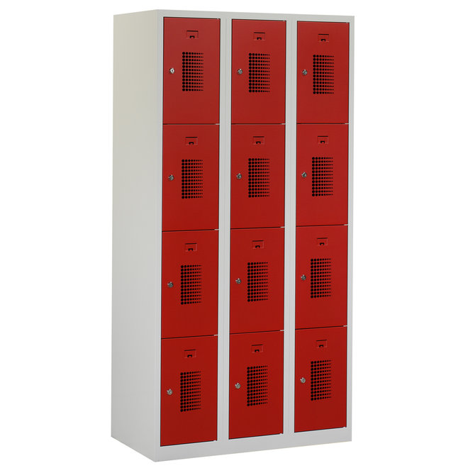 Locker 12-deurs ANH.3.12.GR/RO Kolom 30 cm Breed