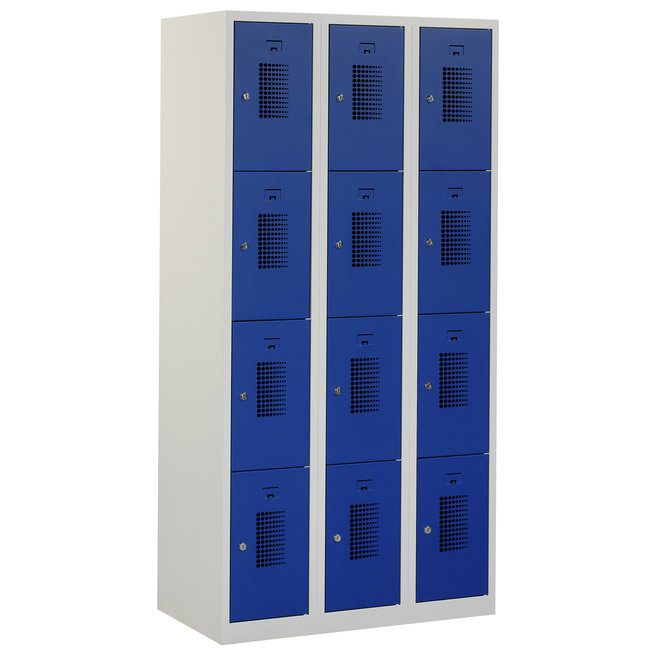 Locker 12-deurs ANH.3.12.GR/BL Kolom 30 cm Breed