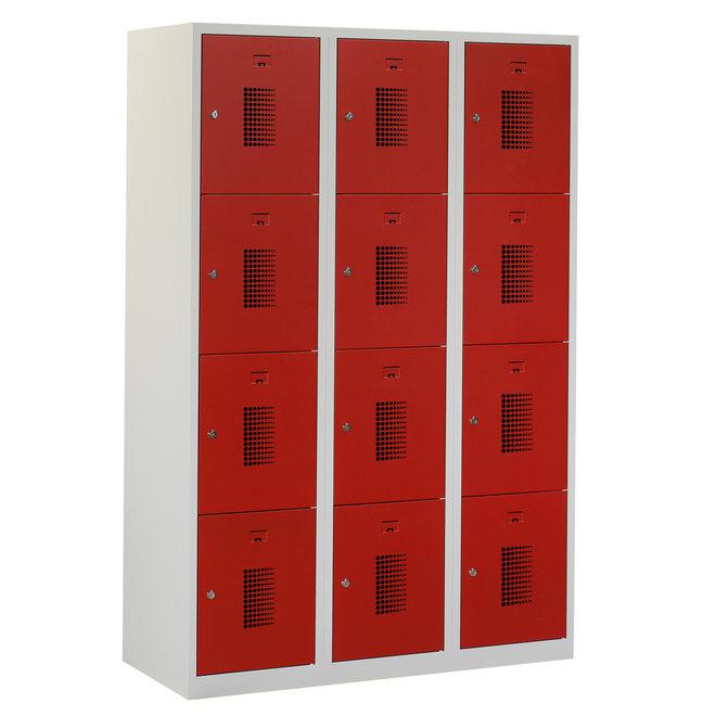 Locker 12-deurs ANHT.3.12.GR/RO Kolom 40 cm Breed