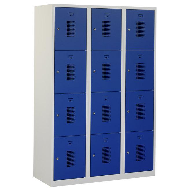 Locker 12-deurs ANHT.3.12.GR/BL Kolom 40 cm Breed