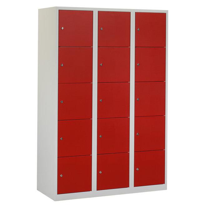 Locker 15-deurs APHT.3.15.GR/RO Kolom 40 cm Breed