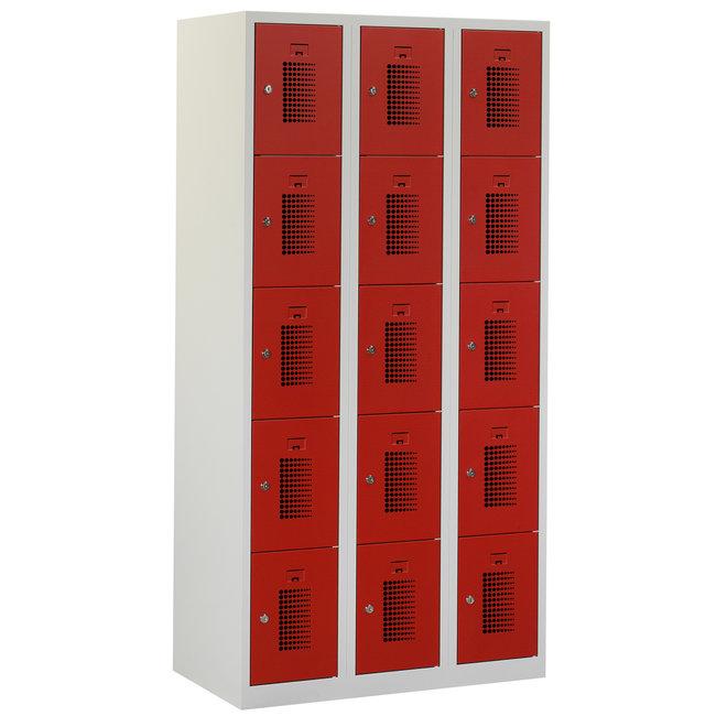 Locker 15-deurs ANH.3.15.GR/RO Kolom 30 cm Breed