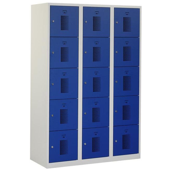Locker 15-deurs ANHT.3.15.GR/BL Kolom 40 cm Breed