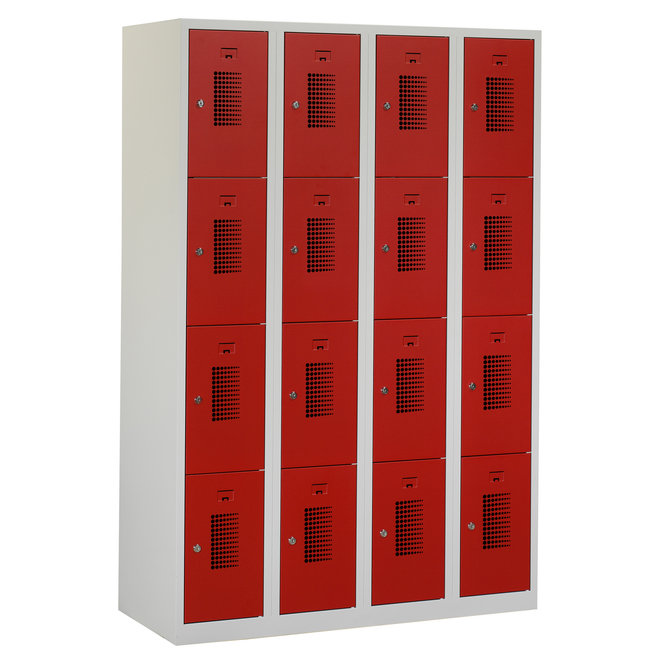 Locker 16-deurs ANH.4.16.GR/RO Kolom 30 cm Breed