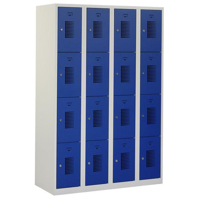 Locker 16-deurs ANH.4.16.GR/BL Kolom 30 cm Breed