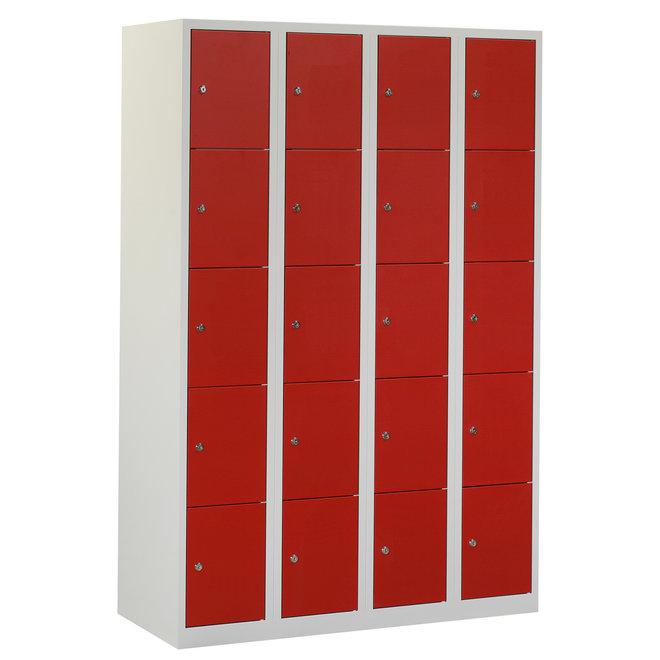 Locker 20-deurs APH.4.20.GR/RO Kolom 30 cm Breed