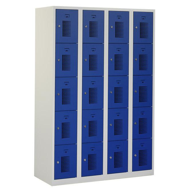 Locker 20-deurs ANH.4.20.GR/BL Kolom 30 cm Breed