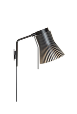SECTO DESIGN 4630 PETITE WALL LAMP IN BLACK LAMINATED BIRCH