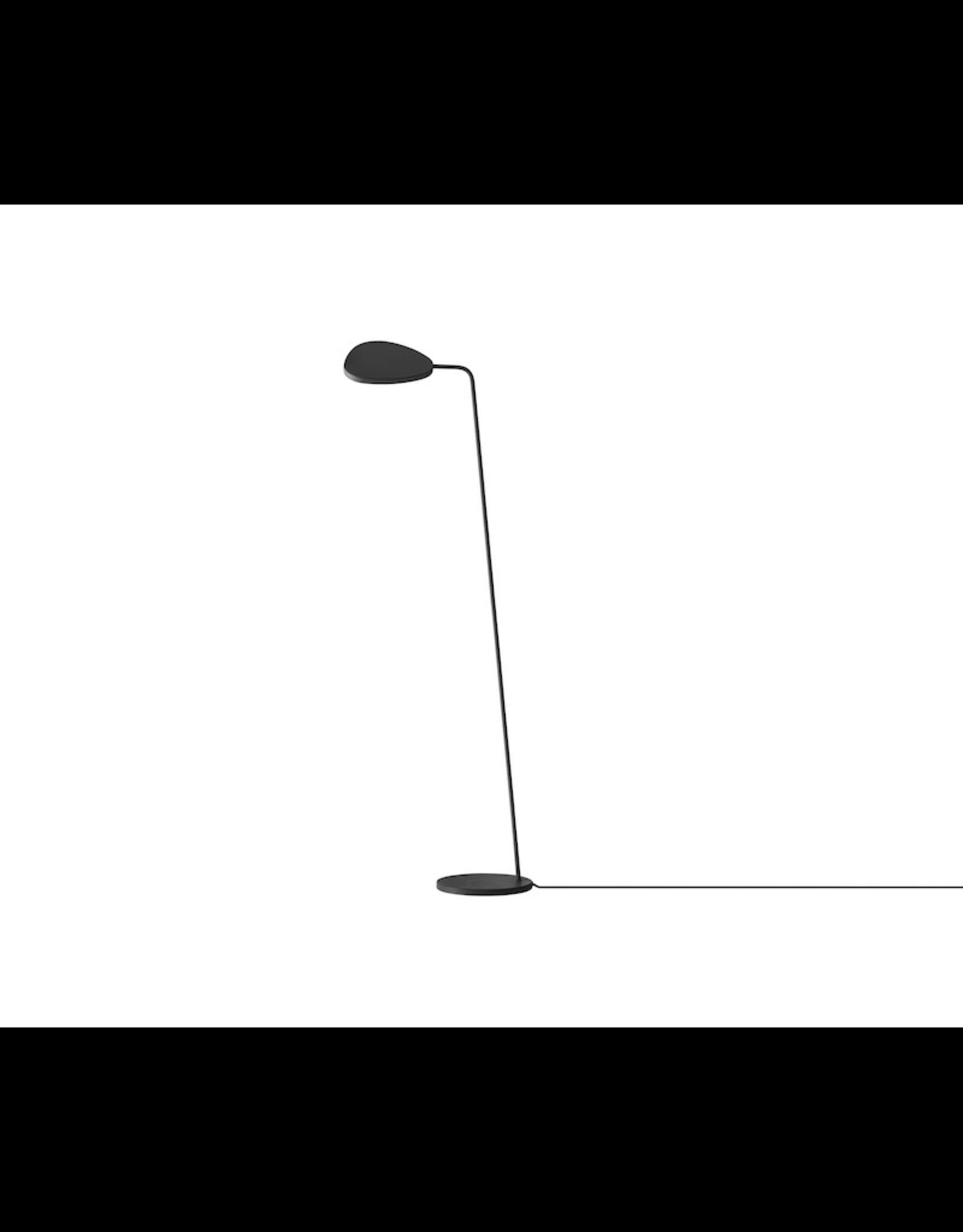 LEAF FLOOR LAMP IN BLACK