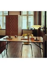 LOUIS POULSEN PH 3/2 TABLE LAMP, MOUTH BLOWN WHITE OPAL GLASS SHADES